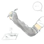 絵を描く時の手汗対策